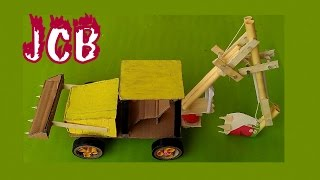 how to make paper JCB -  EASY TUTORIAL- toy for kids story game