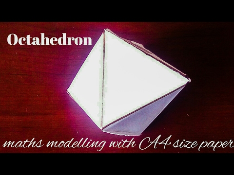 octahedron | maths model 3d shapes using paper