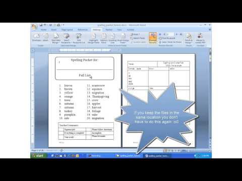 Installing the Spelling Packets Factory to create word work packets