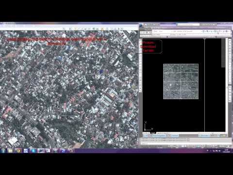 download  image and terrain google earth in AutoCAD