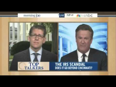 Joe Scarborough rips Jay Carney on IRS scandal - 'Don't give me talking points!'