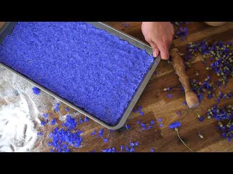 FarbFood - BLUE - Cornflower Sugar Recipe ( FOOD VIDEO )