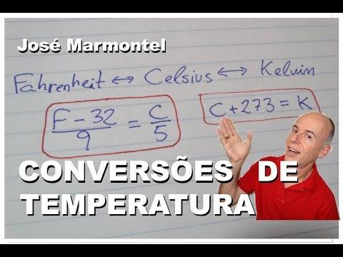 Conversões Fahrenheit Celsius Kelvin