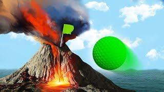 DANGEROUS GOLF ON VOLCANOS! (Golf It)