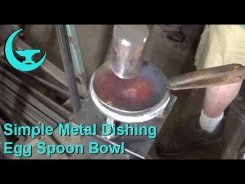 Simple Metal Dishing - Egg Spoon Bowl