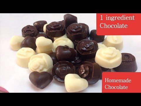 Easy Homemade Chocolate | Easy 1 ingredient White & Milk Chocolate