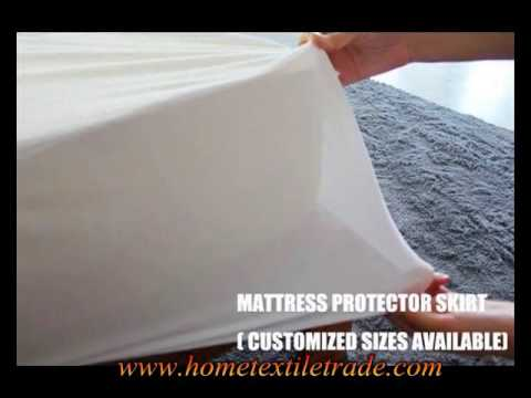 Hypoallergenic Bamboo Fitted Sheet Bed Cover Waterproof Mattress Protector