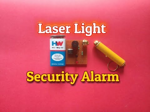 Laser Security Alarm System.How To Make A Laser Light Security Alarm System.Simple Science project..