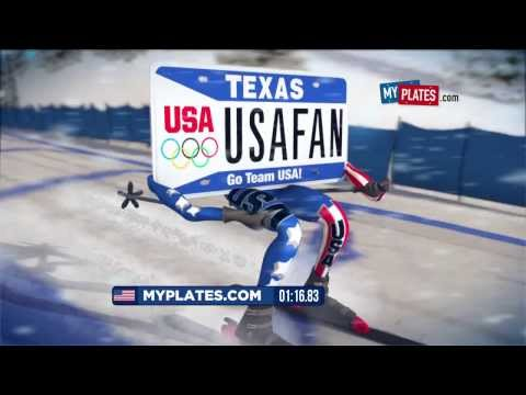 U.S. Olympic License Plate Comes to Texas - Downhill Skier
