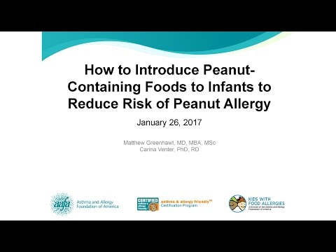 Reducing Risk of Peanut Allergy – A Review of New Guidelines