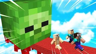ESCAPE A GIANT FLYING MINECRAFT ZOMBIE!