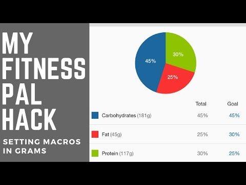 Macro Tracking Hack - Adjusting Your Macros and setting Macros by Grams in Free version MyFitnessPal
