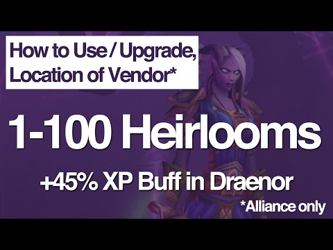 1-100 Heirlooms, How to Use/Upgrade, Vendor Location, Heirloom Vendor