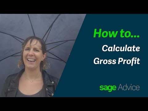 How to Calculate Gross Profit - Sage Business Startup Essentials
