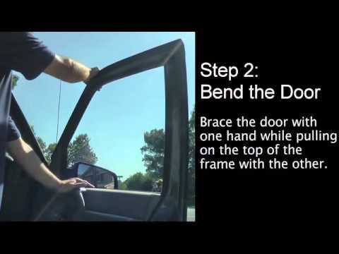 How to fix a door that has wind noise.