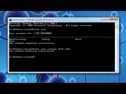 How to create or delete admin and standard user account via cmd: Cool CMD Tricks