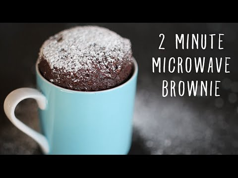 2 Minute Microwave Brownies in a Mug!