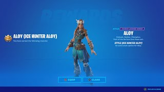 How To Get The ICE HUNTER ALOY Skin In Fortnite! (Horizon Zero Dawn Bundle Gameplay And Review)