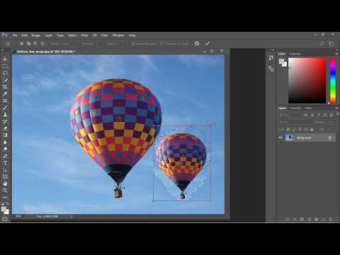 Photoshop Tutorial for Beginners - 11 - Content Aware Move Tool