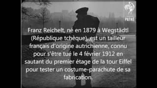 Death Jump - PARIS - TOUR EIFFEL - 1912 - Franz Reichelt
