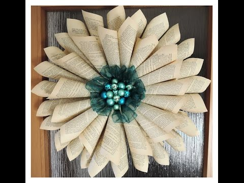 Papírová růže - věnec / Diy paper wreath / christmas decorations