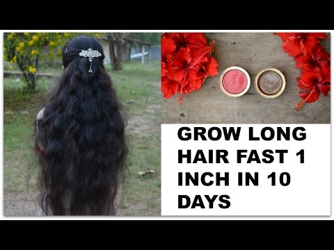 Grow Long Hair Fast 1 inch in 10 Days | 2 Indian Natural Long Hair Growth Remedies | For Men & Women