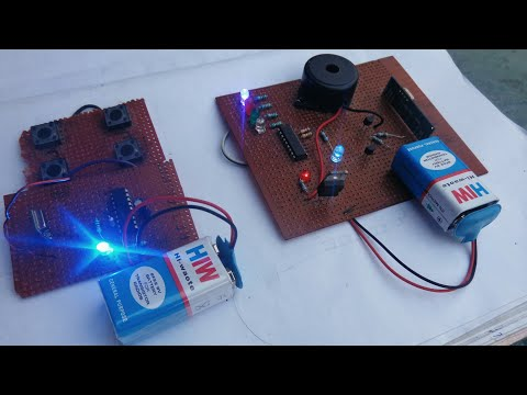 HOW TO MAKE RF WIRELESS  TRANSMITTER AND RECEIVER.