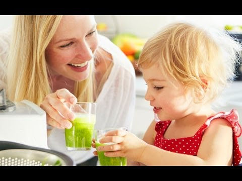 Healthy Smoothies Recipes: Spinach Banana Green Monster Smoothie - Weelicious