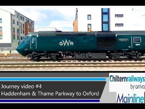 Journey video #4 - Haddenham & Thame Parkway to Oxford - Train = 168328 & 16832?