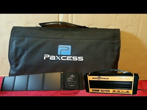 Paxcess 50Watt Foldable Solar Panel Charger Unboxing Demo Review PT1 (With Cloudy Day Test)