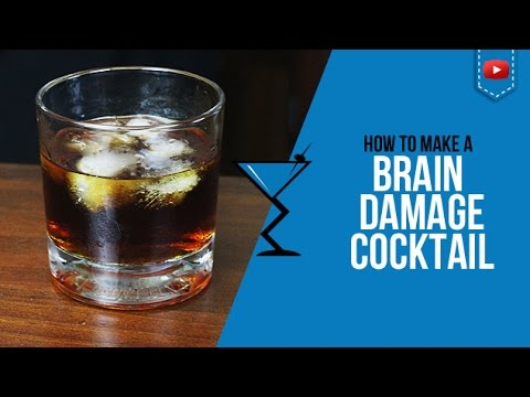 Brain Damage Cocktail - How to make a Brain Damage Cocktail for Halloween