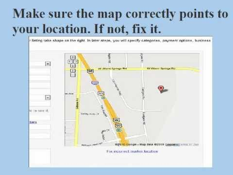 Local Business Listing Tutorial - Google Map.mov
