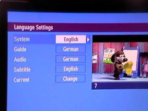 Xoro 8000 Digital TV Receiver - Change Language
