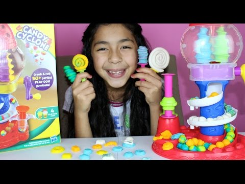 Tuesday Play Doh Candy Cyclone Part 2 Make Lollipops Cookies, Candy, Gumballs