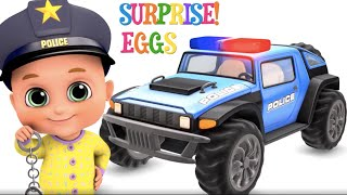 Download New Police Siren car with Assembling - toys for kids | Jugnu Kids Video