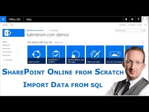 Import data from SQL to SharePoint Online