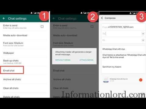 Backup WhatsApp Chat Via Email To Transfer From Android To iPhone