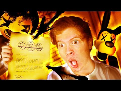JOEY DREW SENT ME A REAL LETTER!! + SECRET TOY BOX!! (Bendy and The Ink Machine Chapter 4)