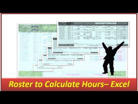 Excel Roster -- Hours and Shifts -- Microsoft Excel