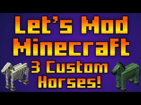 Let's Mod Minecraft EP19: 3 Custom Horses! [Xbox 360 NBT Editor Tutorial]