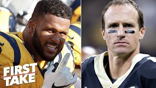 Would the Rams' defense handle Drew Brees, Saints? | First Take