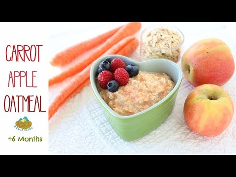 Carrot Apple Oatmeal - baby food +6M