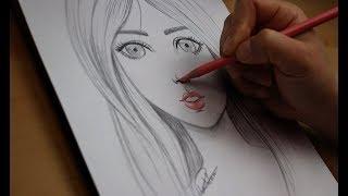 #x202b;تعليم الرسم - تعلم رسم الوجه بالرصاص للمبتدئين مع خطوات بسيطة - رسم ملامح الوجه#x202c;lrm;