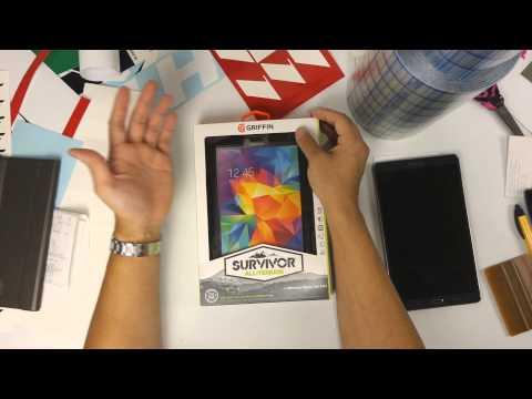 Samsung Galaxy Tab S 8.4 Griffin Survivor Case vs Samsung Book Cover