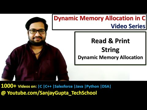 How to read and print string using dynamic memory allocation in C programming | by Sanjay Gupta