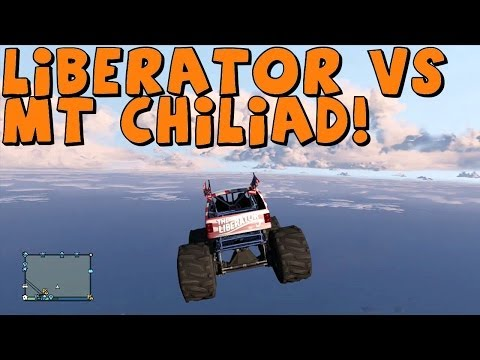 GTA 5 | The Liberator Monster Truck vs Mt Chiliad | Climb and Crash Test