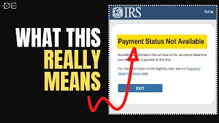 Stimulus Payment Status Not Available: What It Means