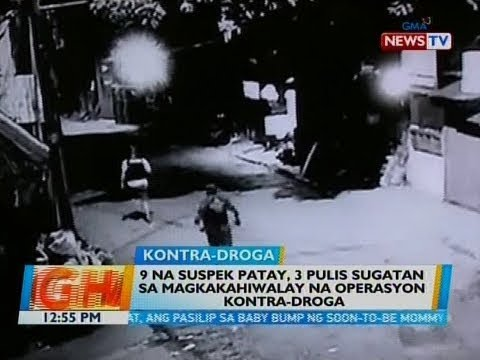 BT: 9 na suspek patay, 3 pulis sugatan sa magkakahiwalay na operasyon kontra-droga
