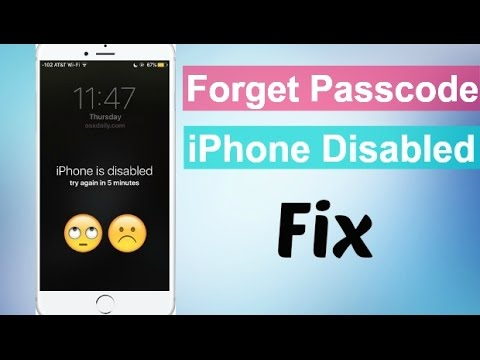 How to Fix Disabled iPhone 2018
