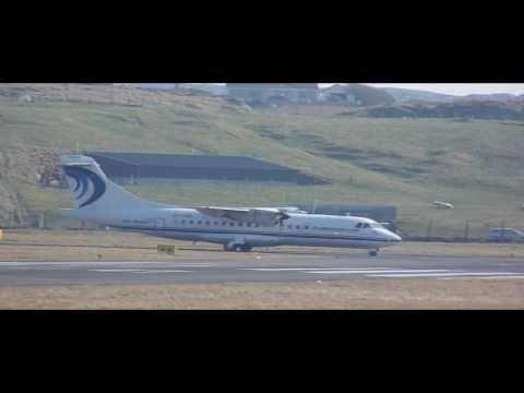 Aer Arann ATR 42 Donegal Airport(EIDL) Take-off.